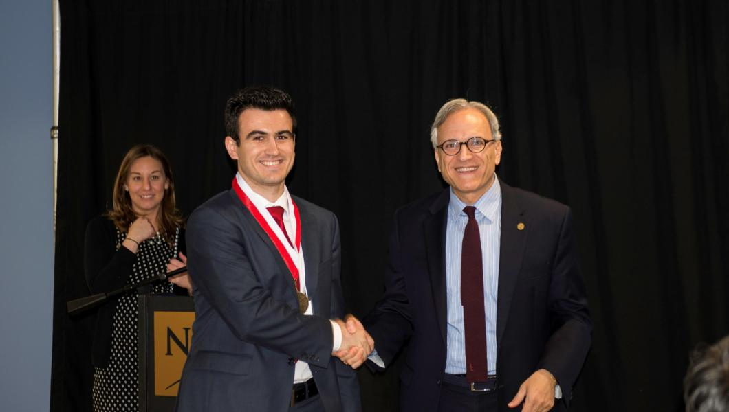 Ivan Mitevski wins the Dana Knox award for undergraduate research