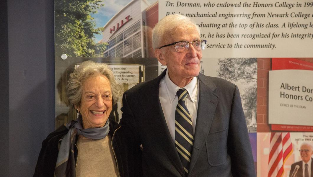 Joan Dorman and Albert Dorman '45 '99 HON alumnus
