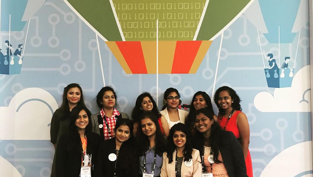 Eleven graduate students attended the world's largest gathering of women technologists.