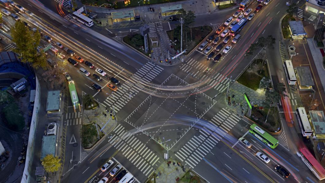 Civil Engineering City Aerial View