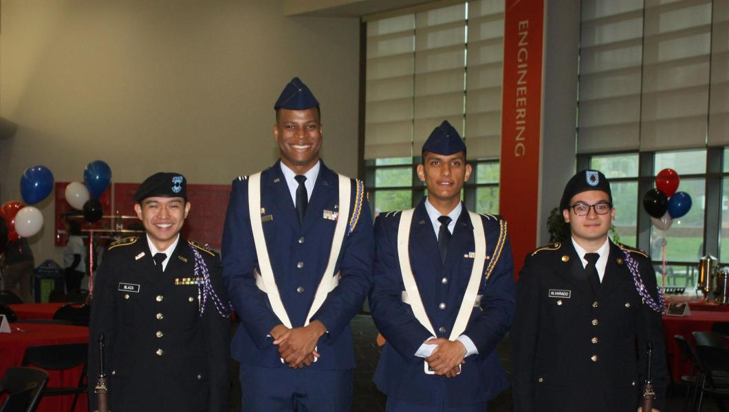 The Air Force ROTC Detachment 490 at NJIT's Memorial Day Observance Ceremony.