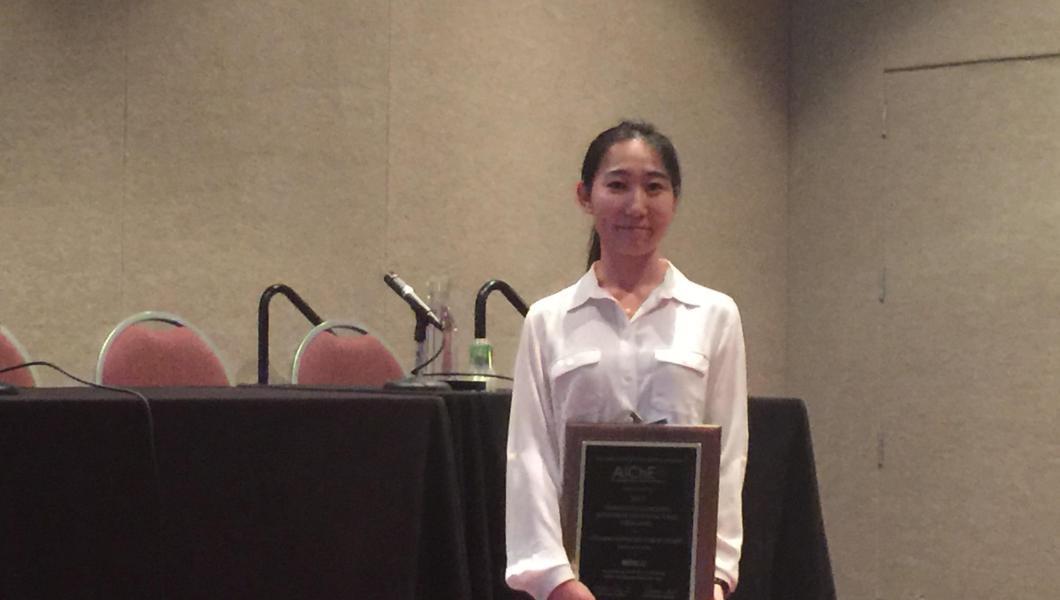 Graduate student Meng Li wins AIChE's student award