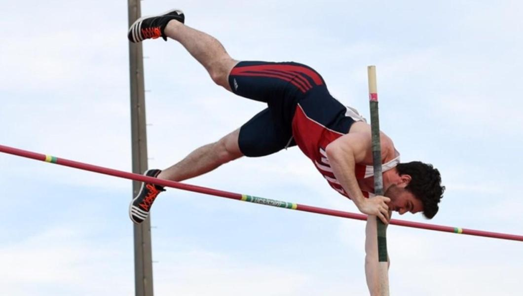 Calvin Gould broke the NJIT school-record in the pole vault this Spring and finished tied for first at the 2017 Brick City Classic hosted by NJIT in the men's pole vault with a height of 14-11 (4.41m).