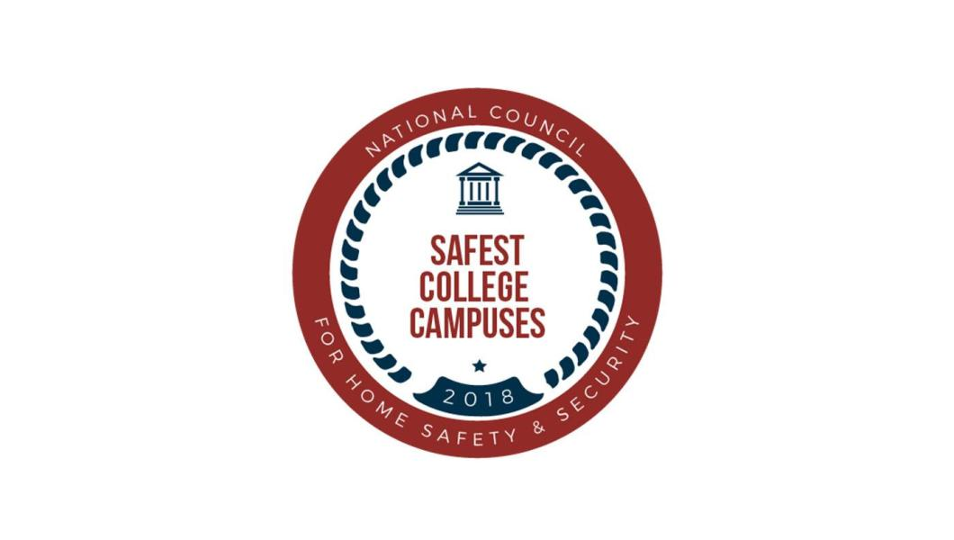 The National Council for Home Safety and Security ranked NJIT among the Top 100 safest campuses in America.