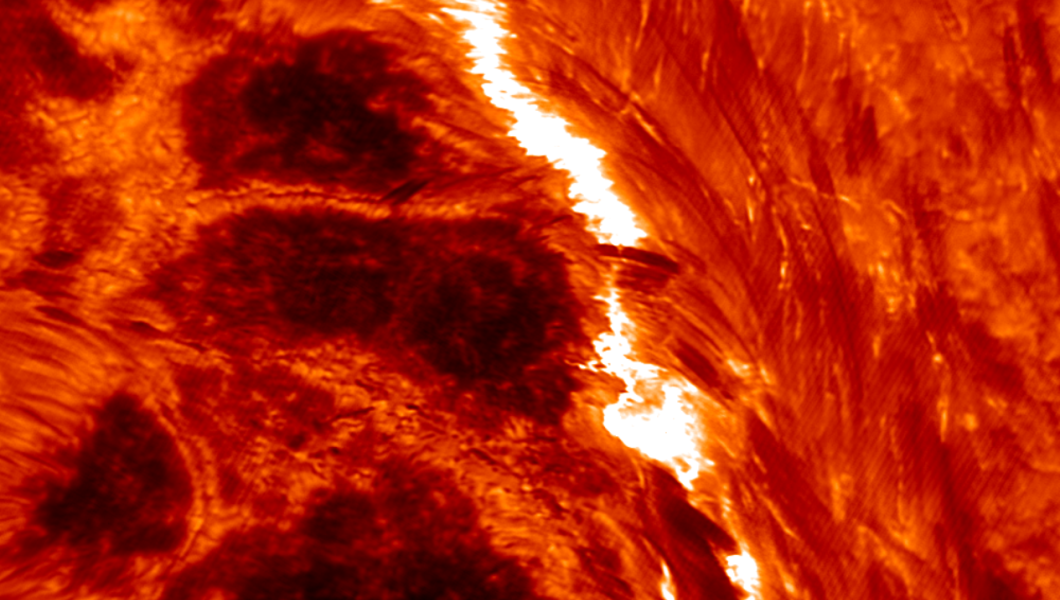 the precursor to a solar flare