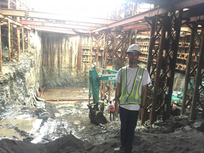 Louis Berger sent Abhishek Banyal to Mumbai, where he was exposed to massive excavation and tunnel-boring operations.
