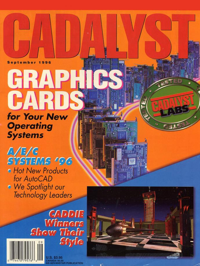 1996 cover of the Cadalyst magazine with feature on NJIT students