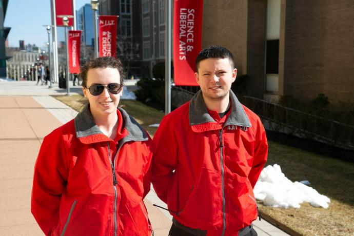 Student CSOs Anastasia Bohon and Nick Couper