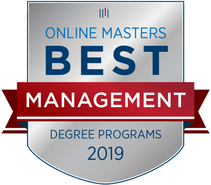 Badge for Best Online Master's in Management Program