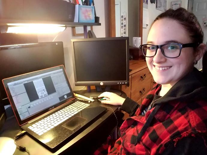 After college, Angela Vitaletti will pursue a career in game development.