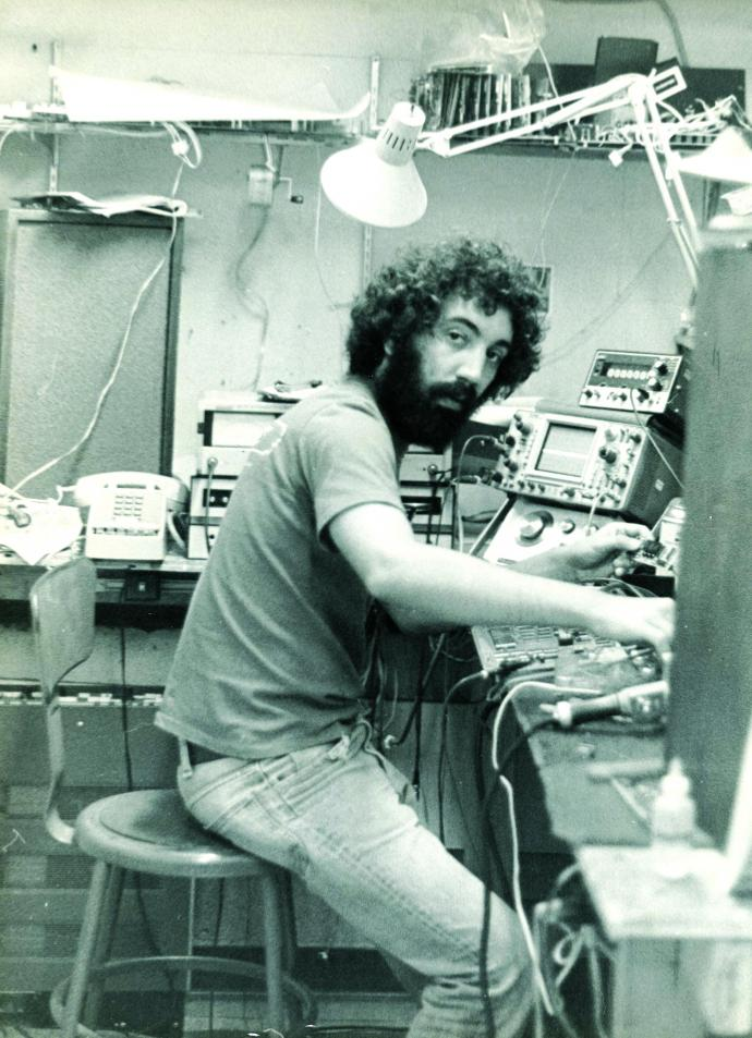 At Eventide's headquarters in NYC, circa 1974, Agnello starts work developing the H910 Harmonizer. Credit — Eventide