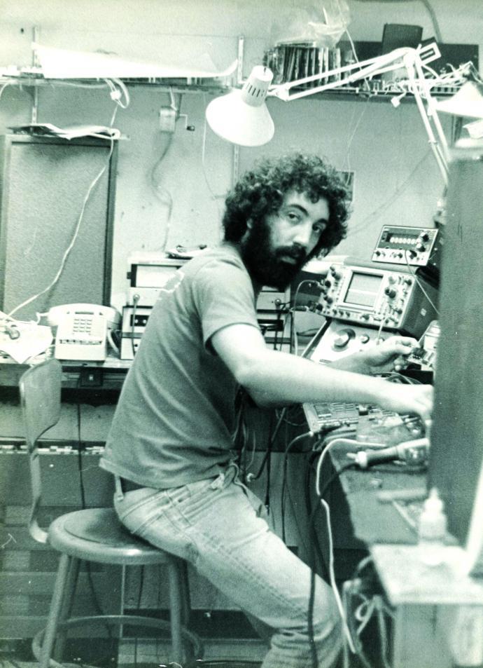 At Eventide's headquarters in NYC, circa 1974, Agnello starts work developing the H910 Harmonizer. Credit — Eventide