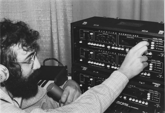 """Agnello refines the """"glitched"""" audio effects originally produced by the H910, introducing the H949 Harmonizer in 1977. Credit — Eventide"""