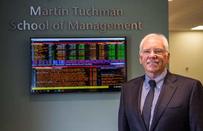 Reggie Caudill, dean of Martin Tuchman School of Management
