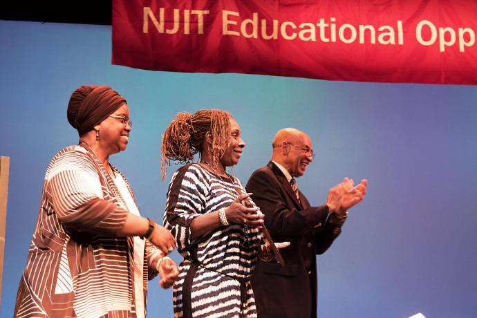 (From left) EOP's Kim Akhtab, Crystal Smith and Tony Howell