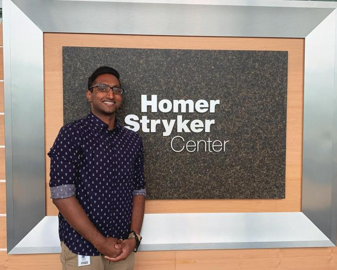 NJIT Student Elijah Mathew at his Stryker internship
