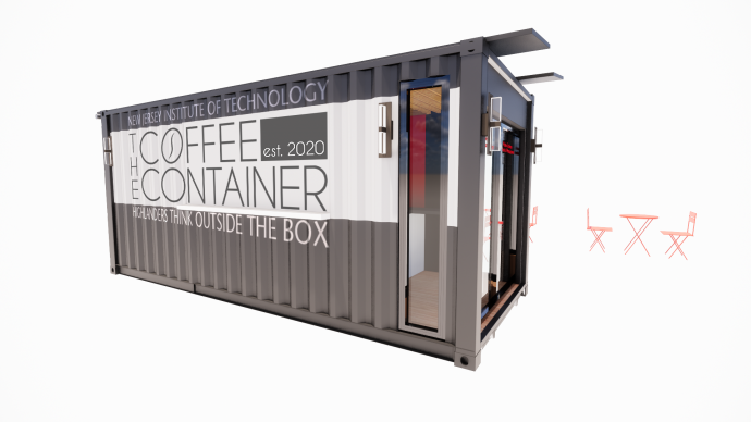 COCO container coffee shop with logo