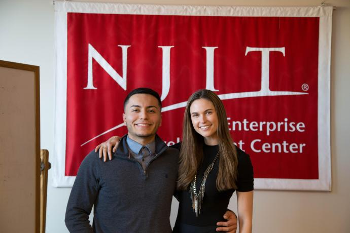 ZinePak Co-founder Kim Kaupe (right), here with FowndersX Co-founder and President Nick Fuentes, was a guest speaker for the entrepreneurial club.