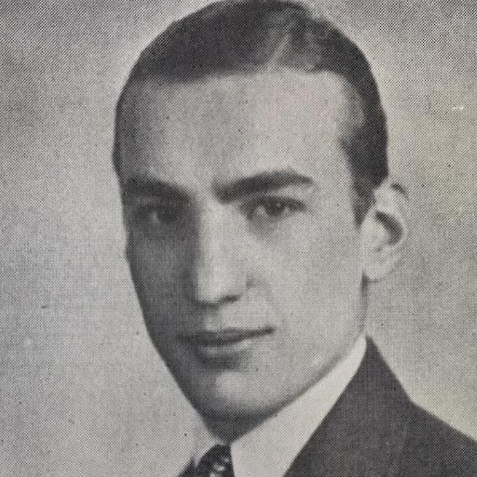 Herman Blackman '38 during his years at NCE.