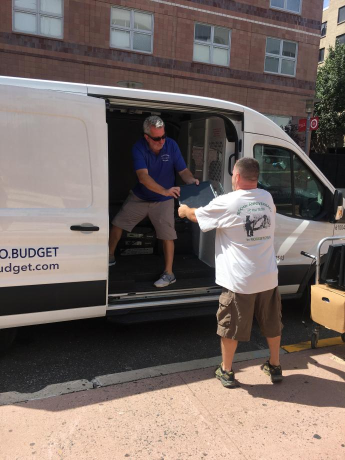 The Electronic Access Foundation picks up donated equipment at NJIT.