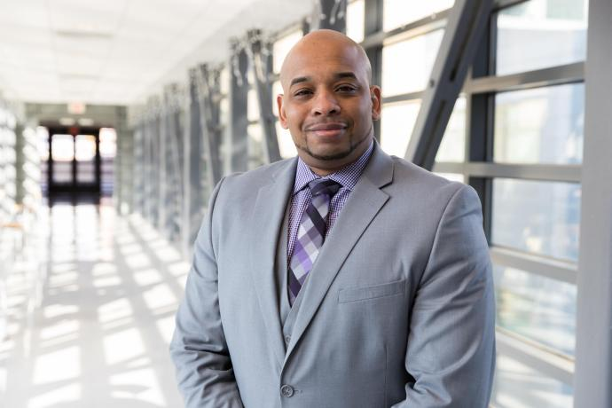 Jaime Esquilin spent 12 years in the Marine Corps and is now a senior studying information technology with a minor in information management systems.