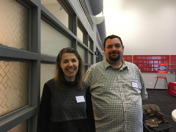 "Lee-Ann Baxmeyer and Steve Vega attend ""'Launching Students Into Physics"" to explore new ways of teaching physics to their current generation of students."