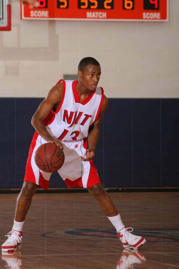 Wilson at NJIT's former Zoom Fleisher Athletic Center, where he finished his Highlander career with 1,359 points to become the first men's Division I 1,000-point scorer in university history.