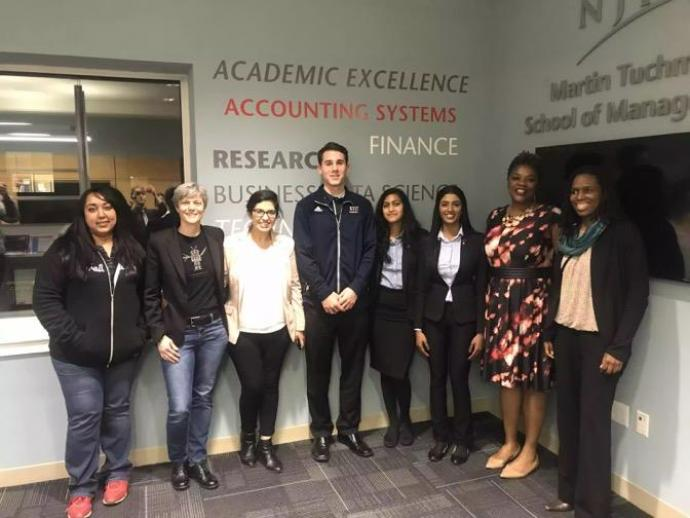 Salesforce Ambassador Group members (from left) Neena Bains, Mary Scotton, Harpuneet Kaur, Reilly Walsh, Priya Ravi, Shravanthi Budhi, Jacalyn Chapman and Nevea Van Wright