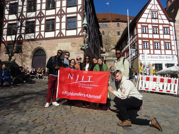Outside the Nuremberg home of the German Renaissance artist Albrecht Durer, who lived and worked there from 1509 to 1528