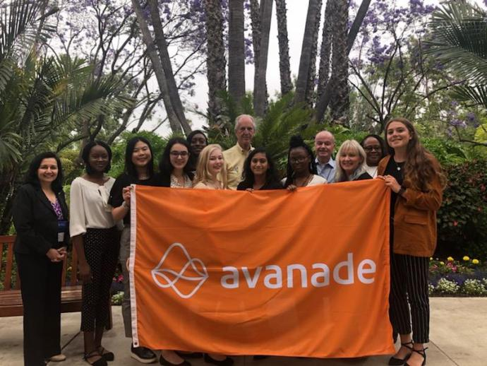 The School of Management contingent at the Avanade conference