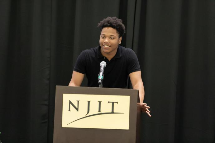 "Tyrese Mills, Shabazz High School: ""I would like to thank this program for giving me the opportunity, the chance, to actually be on a college campus and take these courses."""