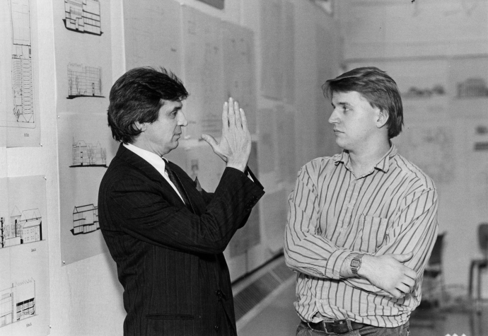 Michael Mostoller with student
