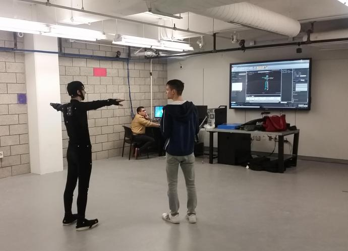 The Motion Capture Lab is managed and located within the digital design program, but is used as a resource for students and faculty.