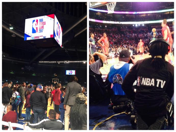 Wilson joined live production crews for the 2017 NBA Africa exhibition game (left) and 2014 NBA All-Star Game in New Orleans (right).