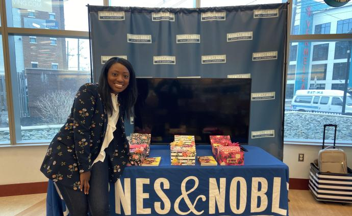 At a book signing at Kean University's Barnes & Noble
