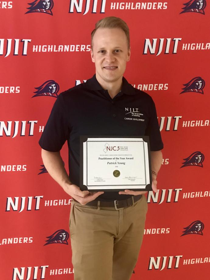 NJIT Career Development Services' Patrick Young also received an award from NJC3.