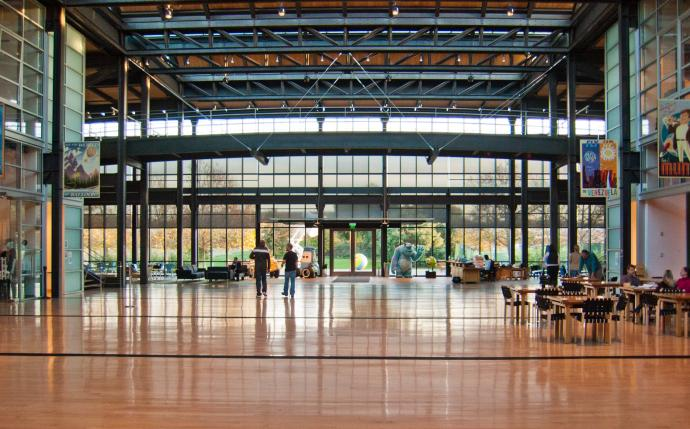 The atrium of Pixar Animation Studios. Photo credit - Jason Pratt