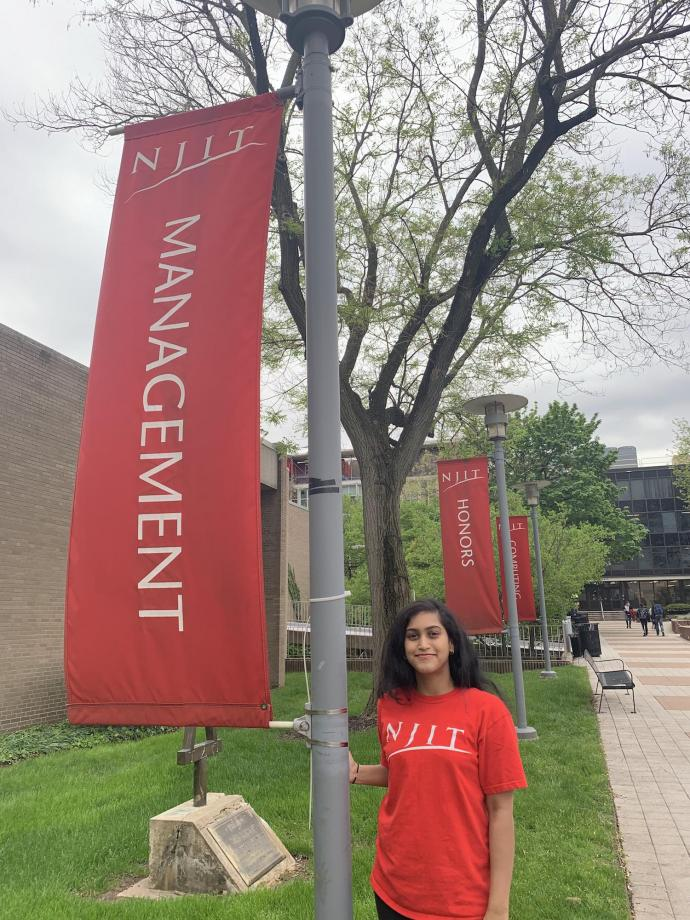 Graduating senior Priya Ravi says she's grateful for the mentorship of MTSM alumni and the support of MTSM faculty and staff, including Undergraduate Program Director Mike Sweeney, Executive Director of Development Billy McDermott and Dean Reggie Caudill.