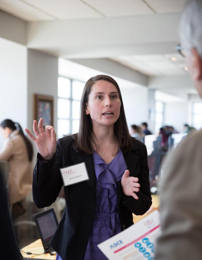 Civil Engineering student, Rachel Werner, presents infrastructure funding alternatives to supplement the Highway Trust Fund (HTF) in New Jersey.