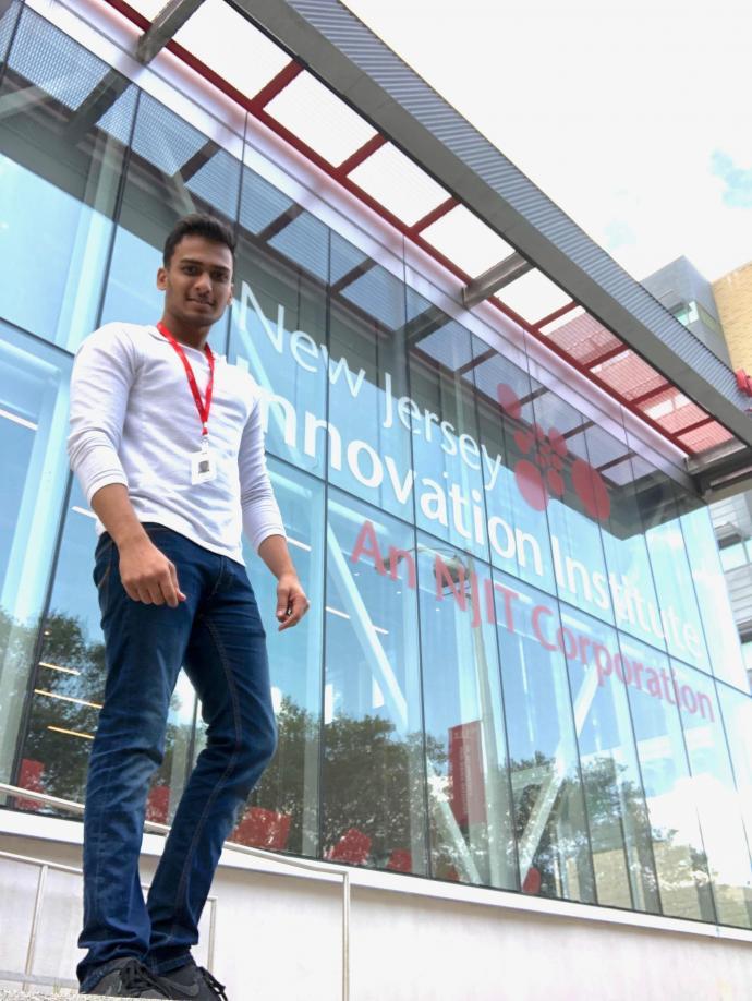 NJIT Student Rucheet Patel at his NJII Internship