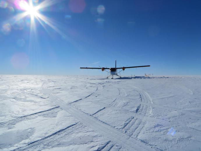 Landing at a remote site in Antarctica