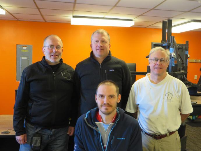 Left to right: Gil Jeffer, Andy Stillinger, August Allen (kneeling) and Bob Melville