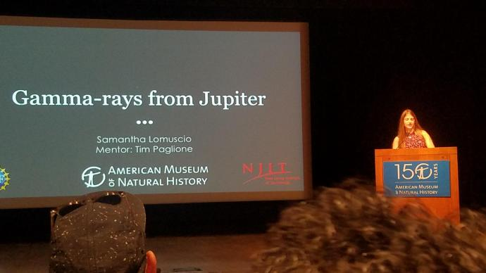 Lomuscio gives a symposium presentation on her research at AMNH this past year.