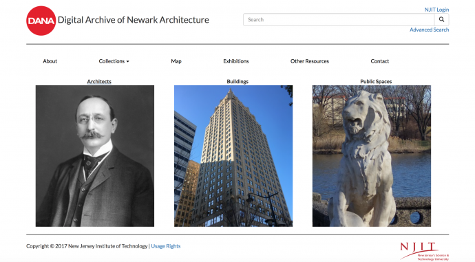Digital Archive of Newark Architecture home page