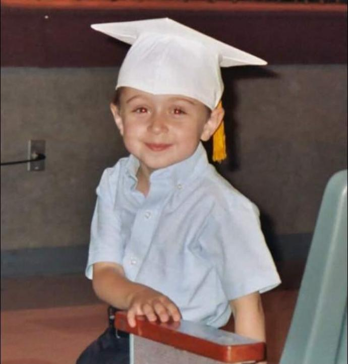 Four-year-old Charles Auriemma at his pre-school graduation