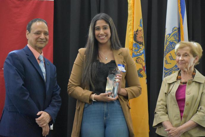 Simone Bishara, a McNair scholar majoring in biochemistry won first prize.