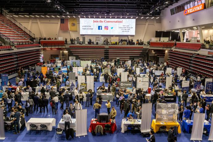 The Spring 2018 Career Fair at the Wellness and Events Center