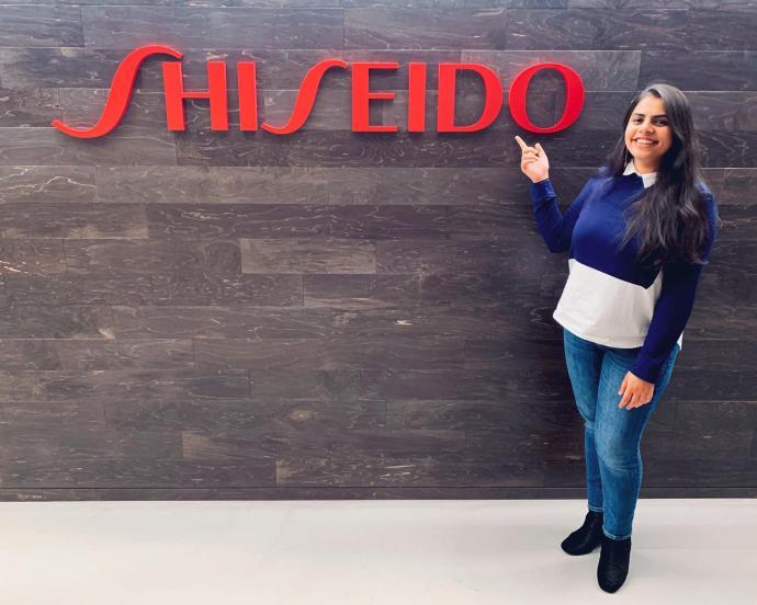 NJIT Student Ujjwala Rai at her internship at Shiseido