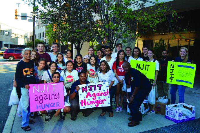 NJIT Against Hunger, a student-led event, made and distributed 400 sandwiches for the hungry in Newark.