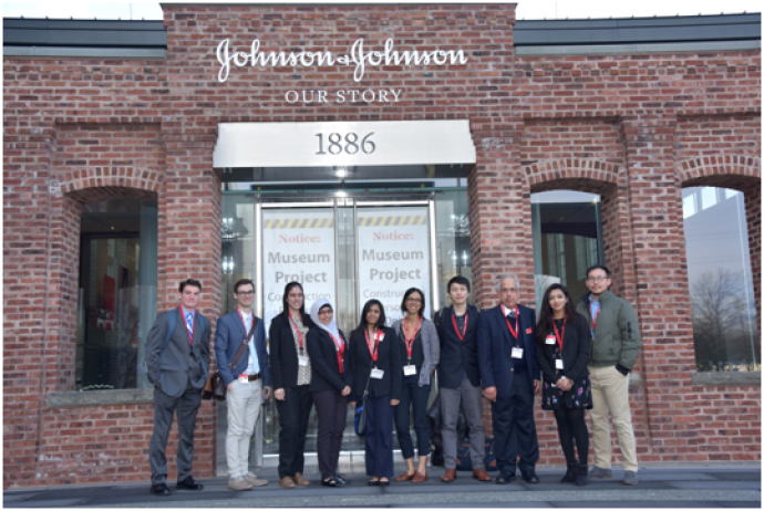 NJIT students presented research posters at J&J's Fifth Annual Engineering Showcase.